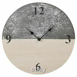 30cm Slate Farmhouse Shabby Chic Wood Wall Clock Time Home Decor Furniture