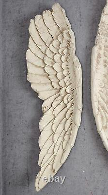 Angel Wings XXL Wall Decoration Shabby Chic White 100cm Hanging Decoration