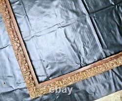 Antique Carved wood photo frame reincarnated Wall Art shabbychic HalloweenDECOR