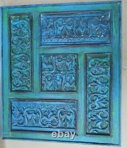 Antique Carved wooden frame reincarnated Wall Art shabby chic DECOR & UTILITY