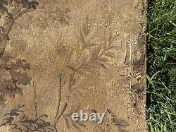 Antique French Verdure Wall Tapestry Forest Flemish Shabby Chic Rococo