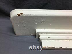 Antique Oak Hardwood Wall Shelf Mantel White 37 Old Shabby VTG Chic 418-21B