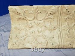 Antique Repurposed Tin Ceiling Mantle Shelf Wall Ledge Shabby Vintage Chic Ivory