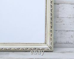 Antique white 16x20 shabby farmhouse chic ornate wood wall gallery picture frame