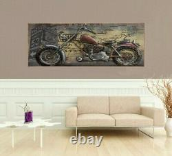 Awesome New shabby chic home garage decorative 3D metal art motorcycle wall art