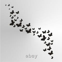 BUTTERFLIES Wall SIZES Reusable Stencil Wall Decor Shabby Chic Nature / Bird107