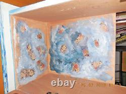 Bathroom Wall Cabinet Hand painted Handmade 763320 cm (plywood & Acrylics)