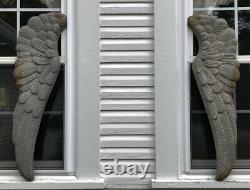 Beautiful Set Of Large 36 x 12 Metal Angel Wings Wall Decor Pair