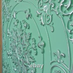 Ceiling tiles faux finish distress silver green decor wall panel 10tile/lot PL18