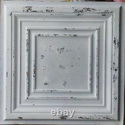 Ceiling tiles faux tin paint distress crack white room cafe shop 10tile/lot PL05