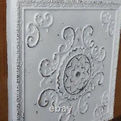 Ceiling tiles faux tin paint distress crack white room cafe shop 10tile/lot PL08