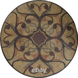 Classic Shabby Chic Wall Art 30 Round Marble Mosaic MD1637