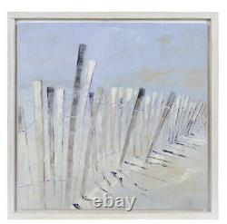 Coastal Sand Dunes Art Textured Wall Decor New View Wood Frame 20x 20 NEW