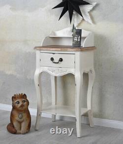 Console Table Secretary Desk Shabby Chic White Wall Side Night Brocade