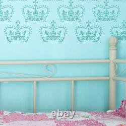 Crown STENCIL for walls furniture crafts Shabby Chic stencils. Add Paint! 10051