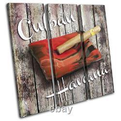 Cuban Shabby Chic Hobbies TREBLE CANVAS WALL ART Picture Print