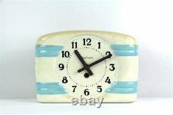 French Vintage Ceramic Kitchen Wall Clock, Shabby Chic