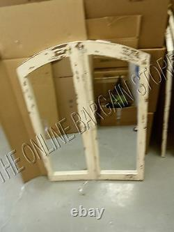 Grandinroad Antique Vintage shabby arched Cathedral Accent Chic Wall Mirror