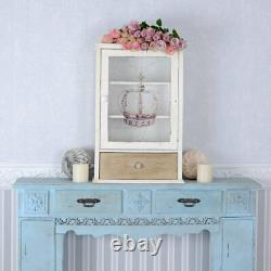 Hanging Display Cabinet Crown Wall Medicine Home Medical Supplies Shabby