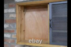 Industrial Style Cupboard Wall Mounted Cabinet with Sliding Doors 6645