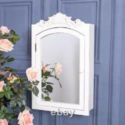 Ivory Ornate Wall Cabinet Wall Mounted Unit Display Rustic Shabby Vintage Chic
