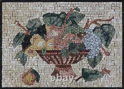 Kitchen Fruit Bowl Backsplash Wall Accent Art Decor Marble Mosaic KB139