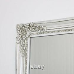Large Ornate Antique Cream Wall Mirror vintage shabby chic country bedroom decor