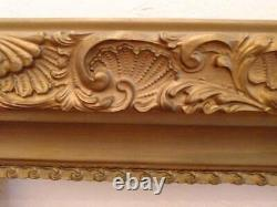 Large Ornate Vintage Aged Gold Frame Wall Portrait Picture Glam Chic Boho Shabby