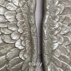 Large Silver Wall Mounted Wings Angel Wings Decorative Wall Hanging Art Home