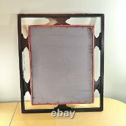 Large Vintage wall curio/shelf with mirror, Shabby Chic /Mid Century/ patina
