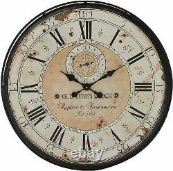 Nice Wall Clock 32 Large Roman Numerals Metal Modern Industrial Shabby Chic