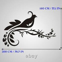 Oak Tree Flying Birds BIG SIZE Reusable Stencil Wall Decor Shabby Chic / T61