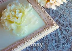 Ornate pink & gold 16x20 shabby distressed chic wood wall gallery picture frame