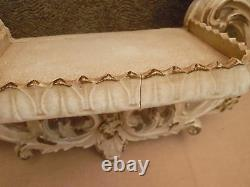 Pair Of Vintage Shabby Chic French Wall Shelves 19 3/4 by 16