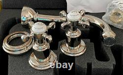 Rohl U-3791X-PN/TO-2 Perrin & Rowe Wall Mount Bathroom Faucet. NEW. 3 Available