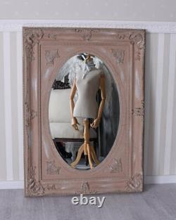 Shabby Chic Mirror Powder Wall Rococo Glamour Oval Antique Baroque XXL