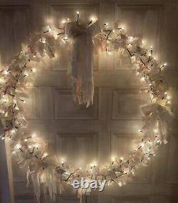 Shabby Chic Rag Wall Light