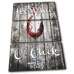 Shabby Chic Wine Drink Food Kitchen TREBLE CANVAS WALL ART Picture Print