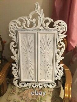 Shabby Vintage Chic MID Century Syroco Wall Jewelry Chest Cabinet