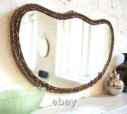 Stunning Fan Shape Shabby Chic Gold Wall Mirror Large Big Vintage Retro Plaster
