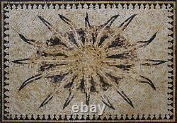 Sun Wall TILE Home Decor Marble Mosaic