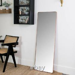 Tall Copper Wall Floor Leaner Mirror vintage shabby chic home decor bedroom