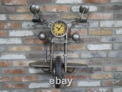Unique Motor Bike Clock Wall Mounted