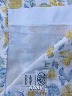 Vintage Laura Ashley Shabby Chic French Country Curtains 4 Panels withWall Quilt