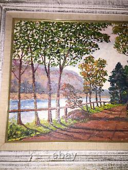 Vintage Original Oil on Board Landscape Signed A Walls 1961 Shabby Chic Nice