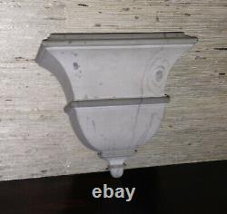 Vintage Shabby Chic Classical Faux Painted Wood Clock/Wall Bracket, MINTY, NICE