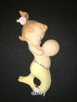 Vintage Shabby Chic Mermaid Mom Girl Mermaid Wall Plaque Pocket W Starfish Fish