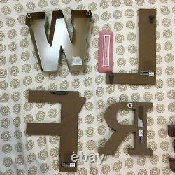 WILD & FREE Decorative Letters Hanging Art Shabby Chic Boho Wall Decor