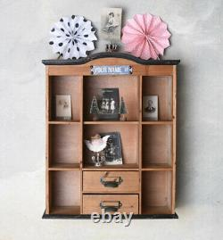 Wall Cabinet Antique Apothecary Wood Shelf Shabby Chic