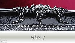Wall Mirror Black Silver 96x57 Antique Mirror Baroque Shabby Chic Floor Mirror 1